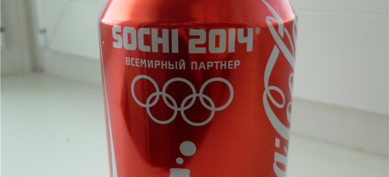 Olympics soda can